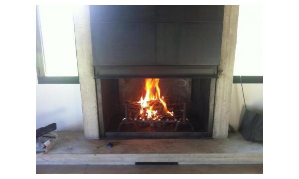 insert à granulés EDILKAMIN installé dans cheminé existante